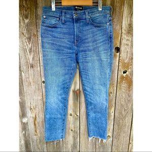 MADEWELL skinny raw hem denim jeans size 32